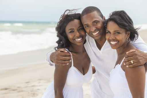 Happy African American Family On Beach
